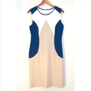 Calvin Klein Colorblock Sleeveless Career Dress